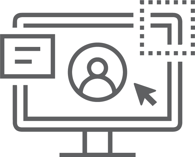 Icon of a website on a computer
